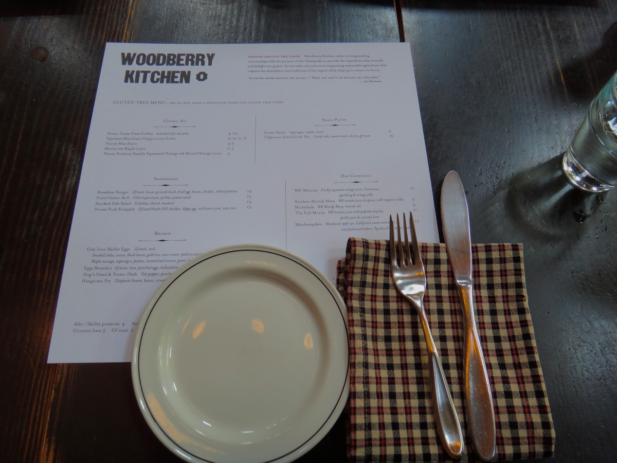 Woodberry Kitchen Gluten Free Review